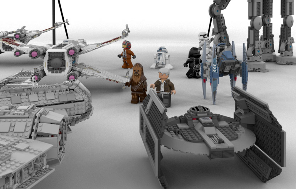 3D Visualisierung Print Lego Star Wars